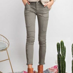Faded Olive Skinny Cargo